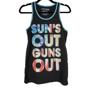 Sun's Out Guns Out Men's Tank Top Size Small